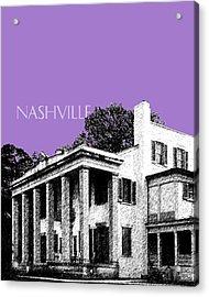 Nashville Skyline Belle Meade Plantation - Violet Acrylic Print by DB Artist