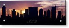 Nashville Sunset Acrylic Print by Aged Pixel