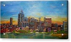Nashville Tennessee Acrylic Print by Annamarie Sidella-Felts