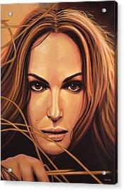 Natalie Portman Acrylic Print by Paul Meijering