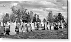 National Cemetery - Gettysburg Battlefield Acrylic Print by Brendan Reals