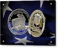 National Law Enforcement Memorial Mint Acrylic Print by Gary Yost