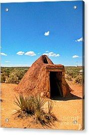 Native American Earth Lodge Acrylic Print by John Malone