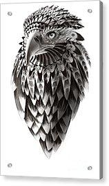 Native American Shaman Eagle Acrylic Print by Sassan Filsoof