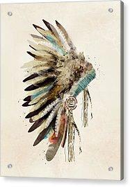 Native Headdress Acrylic Print by Bri B