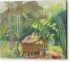Native Hut Brazil Acrylic Print by Celestial Images