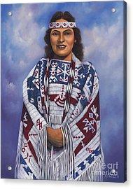 Native Queen Acrylic Print by Ricardo Chavez-Mendez