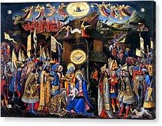 Nativity Angels Acrylic Print by Munir Alawi