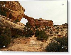 Natural Bridge Southern Utah Acrylic Print by Jeff Swan
