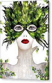 Natural Women Acrylic Print by Yosi Cupano