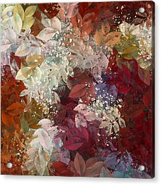 Naturaleaves - 88c02 Acrylic Print by Variance Collections