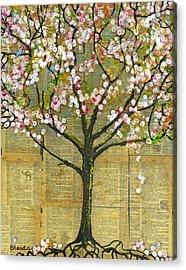 Nature Art Landscape - Lexicon Tree Acrylic Print by Blenda Studio