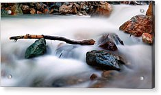 Natures Balance - White Water Rapids Acrylic Print by Steven Milner