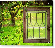 Nature's Window Acrylic Print by Greg Simmons