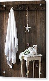 Nautical Bathroom Acrylic Print by Amanda Elwell