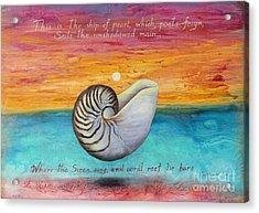 Nautilus Poem Acrylic Print by Gabriela Valencia