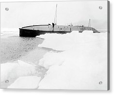 Nautilus Submarine In The Arctic Acrylic Print by American Philosophical Society