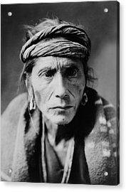 Navajo Man Circa 1905 Acrylic Print by Aged Pixel