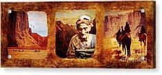 Navajo Triptych  Acrylic Print by Lianne Schneider