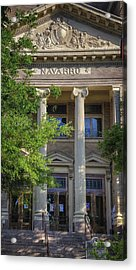 Navarro County Courthouse Acrylic Print by Joan Carroll
