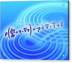 Navier-stokes Equation Acrylic Print by Alfred Pasieka