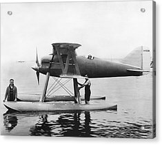 Navy Curtis Seaplane Racer Acrylic Print by Underwood Archives