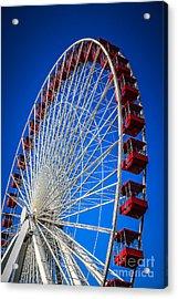 Navy Pier Ferris Wheel In Chicago Acrylic Print by Paul Velgos