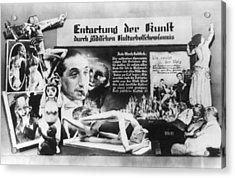 Nazi Anti-soviet Display Of Jewish Acrylic Print by Everett