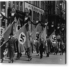 Nazis Parade In Vienna, Austria, On May Acrylic Print by Everett