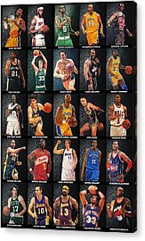 Nba Legends Acrylic Print by Taylan Soyturk