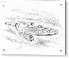 Ncc-1701 Enterprise Acrylic Print by Michael Penny