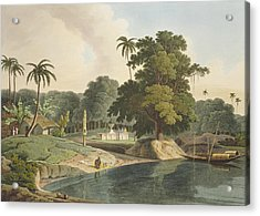 Near Bandell On The River Hoogly, Plate Acrylic Print by Thomas & William Daniell