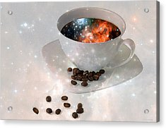 Nectar From Heaven - Coffee Art By Sharon Cummings Acrylic Print by Sharon Cummings