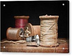 Needle And Thread Acrylic Print by Tom Mc Nemar