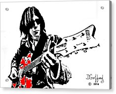 Neil Young Acrylic Print by Dave Gafford