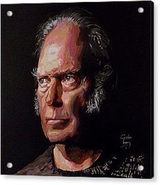 Neil Young Old Man Acrylic Print by Gordon Irving