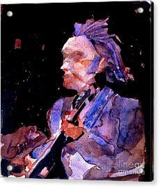 Neil Young Acrylic Print by Sandra Stone