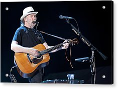 Neil Young Acrylic Print by Shawn Everhart
