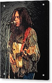 Neil Young Acrylic Print by Taylan Soyturk