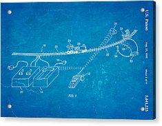Neil Young Train Control Patent Art 1995 Blueprint Acrylic Print by Ian Monk