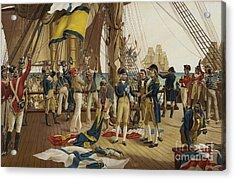 Nelsons Last Signal At Trafalgar Acrylic Print by English School