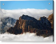 Nestled In The Clouds Acrylic Print by Alan Socolik