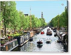 Netherlands, Amsterdam, Boats Cruise Acrylic Print by Miva Stock