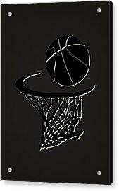 Nets Team Hoop2 Acrylic Print by Joe Hamilton