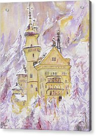 Neuschwanstein Castle  Acrylic Print by Helena Bebirian