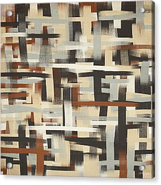 Neutral Patterns Acrylic Print by Lourry Legarde