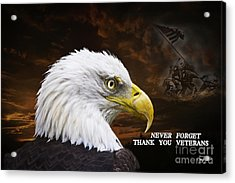 Never Forget - Memorial Day Acrylic Print by Cris Hayes