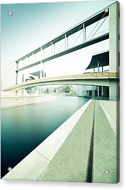 New Berlin Architecture - The Government District Acrylic Print by Alexander Voss