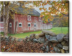New England Barn Acrylic Print by Bill Wakeley