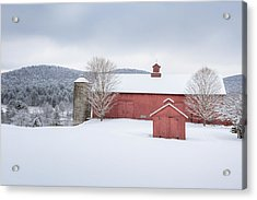 New England Barns Acrylic Print by Bill Wakeley